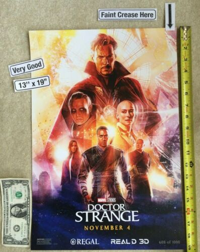 Doctor Strange Mayhem 13 x 19 Poster Regal Limited Edition 2016 VG 608/1000