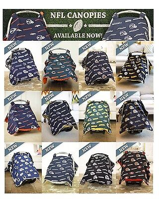 NFL CarSeat Canopy Baby Infant Cover 32 Licensed Football Teams NEW! car seat