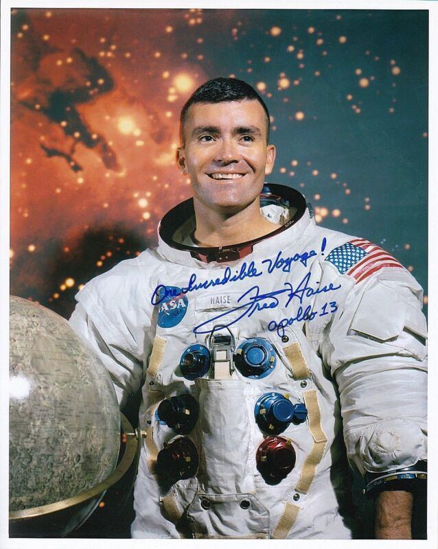 NASA Apollo 13 Astronaut Fred Haise Signed Photo