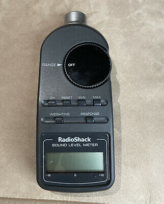 Radio Shack Digital Sound Level Meter Tester 33-2055 Tested And Working