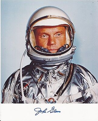 Signed Photo John Glenn Mercury Astronaut