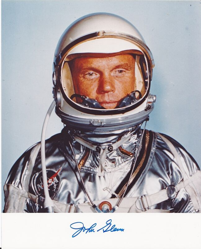 Signed Photo John Glenn Mercury Astronaut