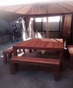 Huge 12 seater table and 4 bench seats new Highland Park Gold Coast City Preview