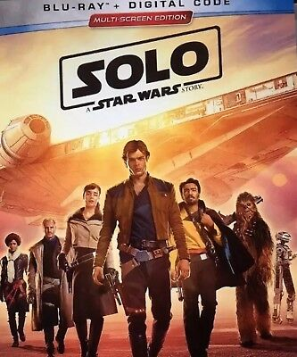 SOLO:A STAR WARS STORY(BLU-RAY+DIGITAL)W/SLIPCOVER NEW UNOPENED