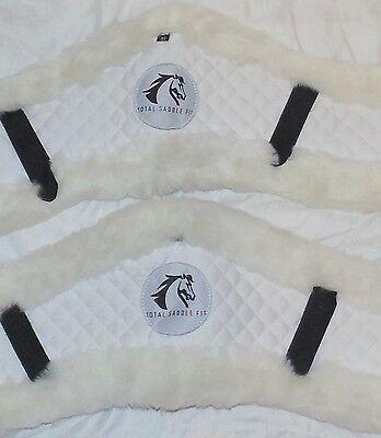 2 Total Saddle Fit AP/Jump Sheepskin Girth Cover White Size Medium Used