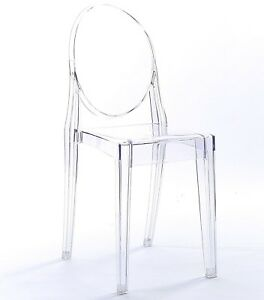 NICHES Ghost Starck Clear Transparent Dining Office Chair Modern Stylish Acrylic