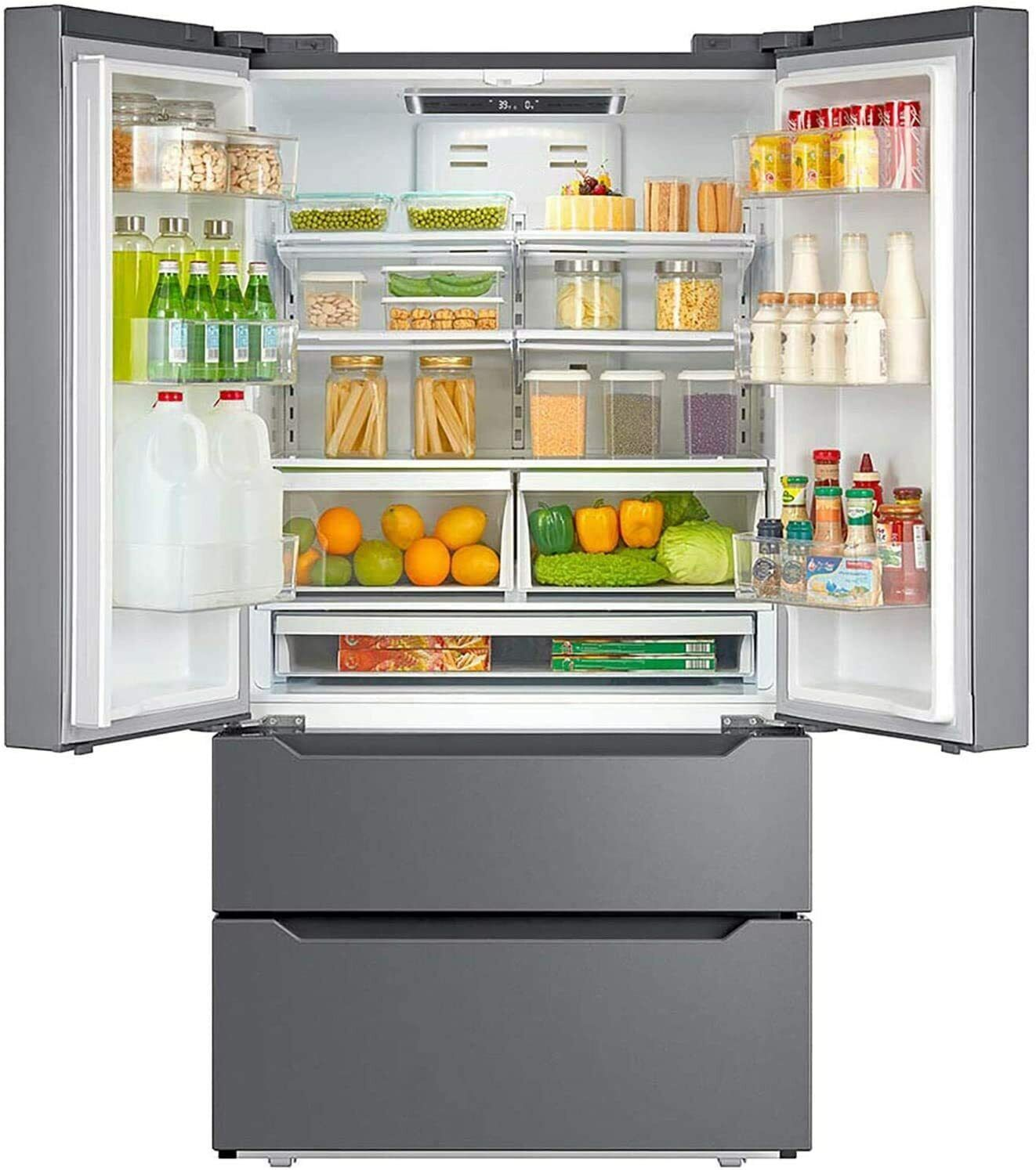 Counter 22.5 CU FT Depth Fridge French Door Refrigerator Fre