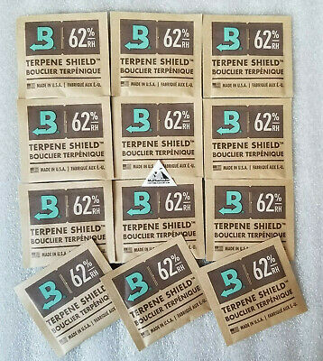 Boveda 62 8 gram packs - Humidity Control Pack - 62% 8 gram - 12 Pack MyPharmJar