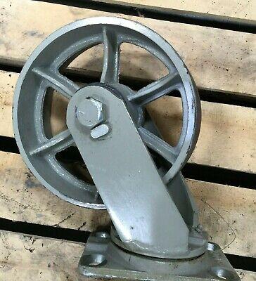 8 Heavy Duty Industrial Cast Iron Caster Wheel W Swivel Mount