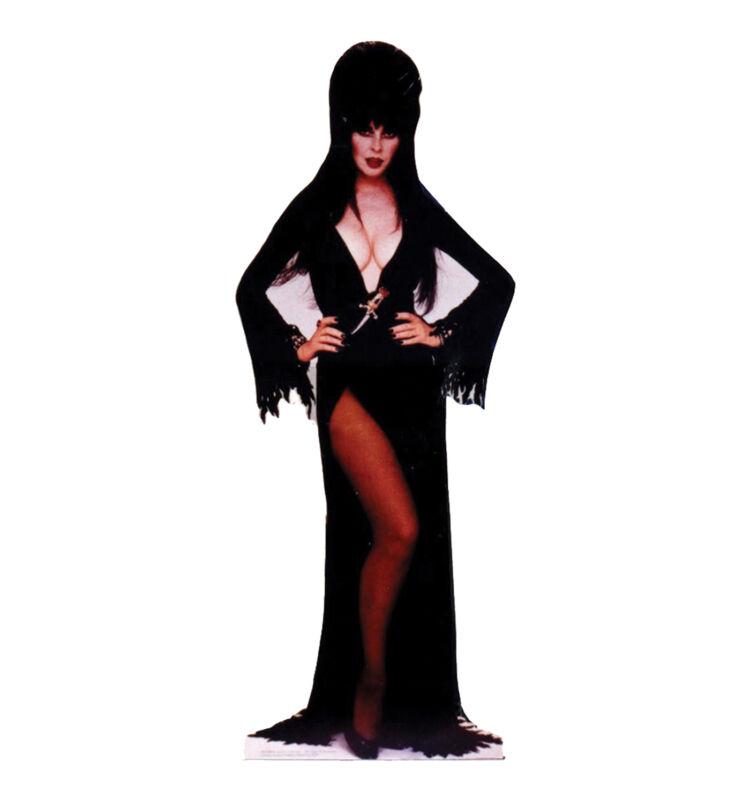 ELVIRA Standing Mistress of the Dark CARDBOARD CUTOUT Standup Standee Poster F/S