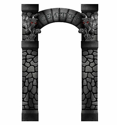 Halloween Party Entrance (Cemetery Arch Entrance Cardboard Cutout Standee Poster Halloween Party)