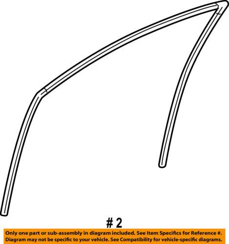 TOYOTA OEM 12-14 Camry Front Door-Run Channel Left 6815106090