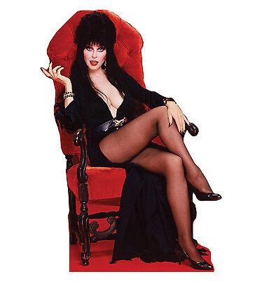 Cardboard Cutout (ELVIRA Sitting Mistress of the Dark CARDBOARD CUTOUT Standup Standee Poster)