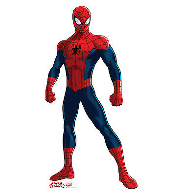 SPIDER-MAN Marvel Ultimate Spiderman Lifesize CARDBOARD CUTOUT Standup Standee - Spiderman Cutout