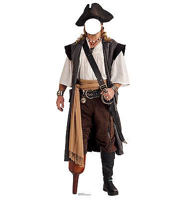 PIRATE - LIFE SIZE STAND-IN/CUTOUT BRAND NEW - PARTY PEG LEG 1992 Make Pirate Peg Leg