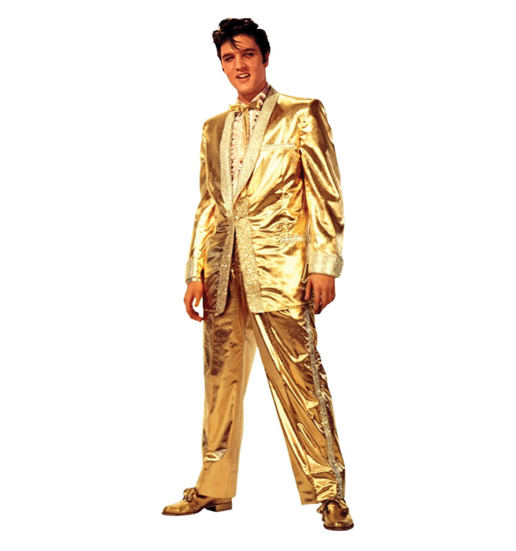 ELVIS PRESLEY - GOLD SUIT - LIFE SIZE STANDUP/CUTOUT BRAND NEW - MUSIC 407