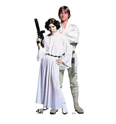 STAR WARS 40TH - LUKE & LEIA - LIFE SIZE STANDUP/CUTOUT BRAND NEW 2463 - Star Wars Life Size Cutouts