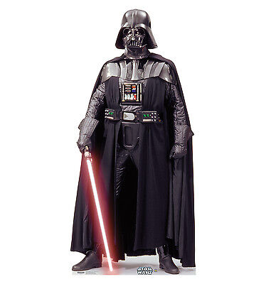 DARTH VADER Star Wars Dark Lord Lifesize CARDBOARD CUTOUT Standup Standee Poster](Star Wars Cutouts)