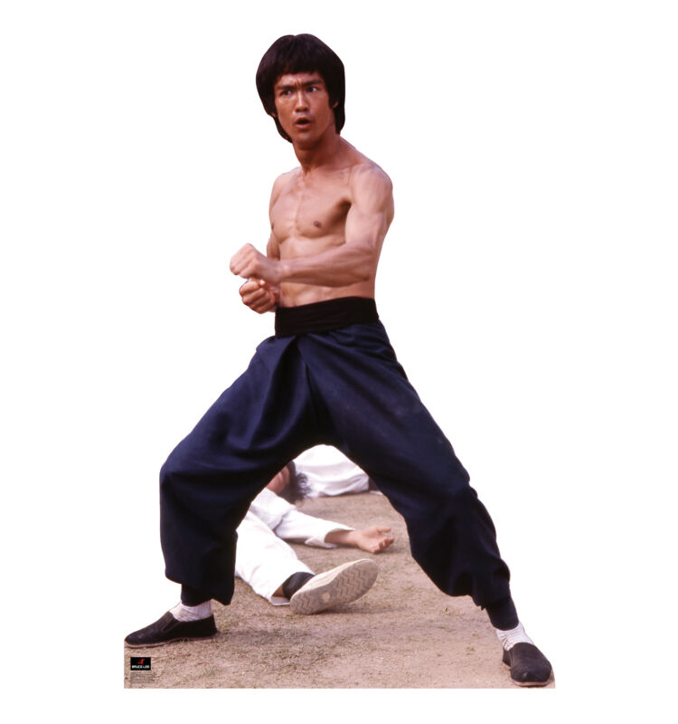BRUCE LEE - FIGHT STANCE - LIFE SIZE STANDUP/CUTOUT BRAND NEW MARTIAL ARTS 1043