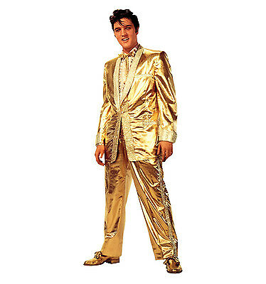 ELVIS PRESLEY Gold Lame Suit Lifesize CARDBOARD CUTOUT Standup Standee Poster