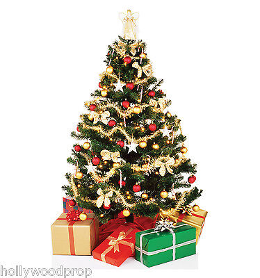 CHRISTMAS TREE DECORATIONS LIFESIZE CARDBOARD STANDUP STANDEE CUTOUT POSTER - Cardboard Tree Props