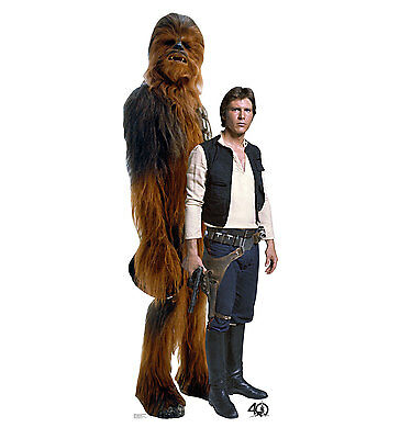STAR WARS 40TH - HAN SOLO & CHEWBACCA - LIFE SIZE STANDUP/CUTOUT BRAND NEW 2462](Star Wars Cutouts)