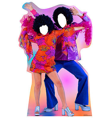 DISCO DANCE COUPLE - LIFE SIZE STAND-IN/CUTOUT BRAND NEW - PARTY 1959 (Disco Couple)