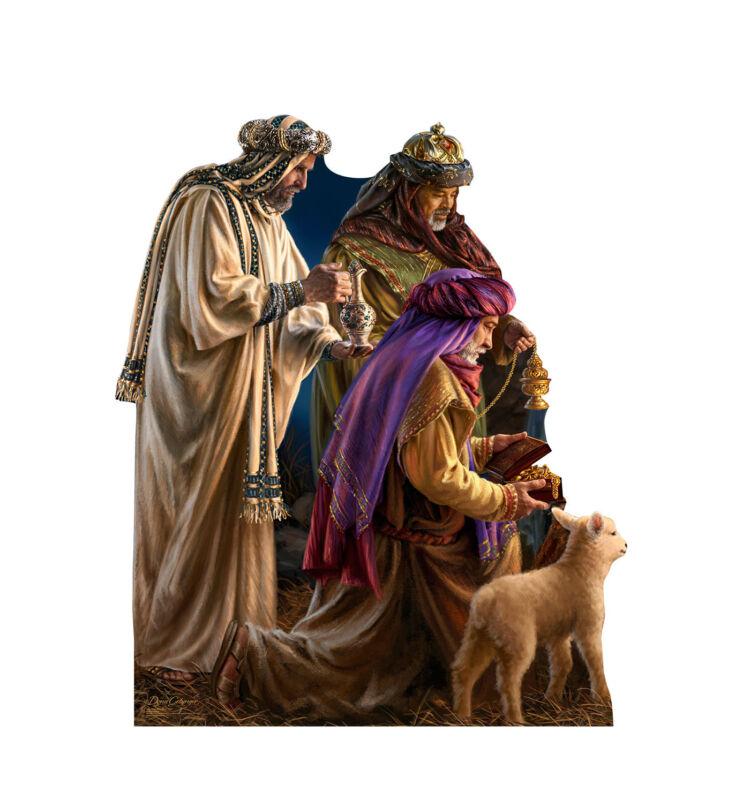 CHRISTMAS NATIVITY 3 WISE MEN DONA GELSINGER LIFESIZE STANDUP STANDEE CUTOUT NEW