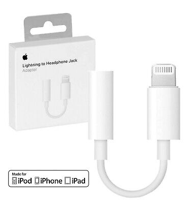 100% GENUINE APPLE 7 7+ 8 8 LIGHTNING TO 3.5MM AUX HEADPHONE JACK ADAPTER IPHONE