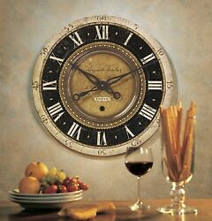 Wall Clock 27 Large Round Decorative Oversized Weathered Vintage Rustic Design