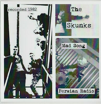 SKUNKS Mad song 45 x4 2 tracks Scratch and Sniff EP 1982 recordings punk oi KBD