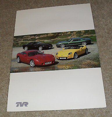 TVR Brochure 2002-2003 - Tamora 3.6 Tuscan 3.6 Tuscan S 4.0 Tuscan R Cerbera 4.2