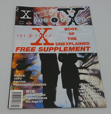 X-FILES MANGA NO. 6, UK COMIC BOOK VERSION, MAGAZINE SIZE w BONUSES, TV SCI FI