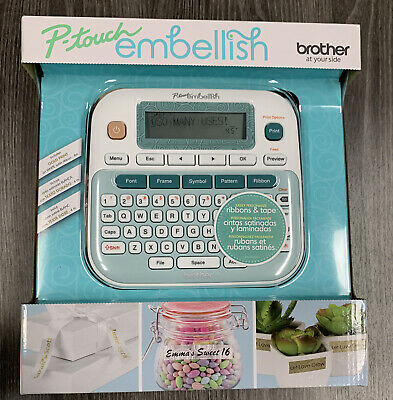Brother P-touch Embellish Ribbon Tape Label Printer - New