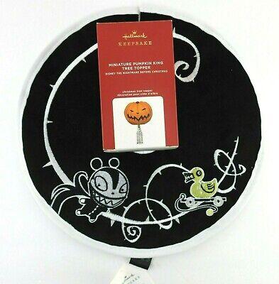 New Hallmark Nightmare Before Christmas Mini Pumpkin Tree Topper & Skirt