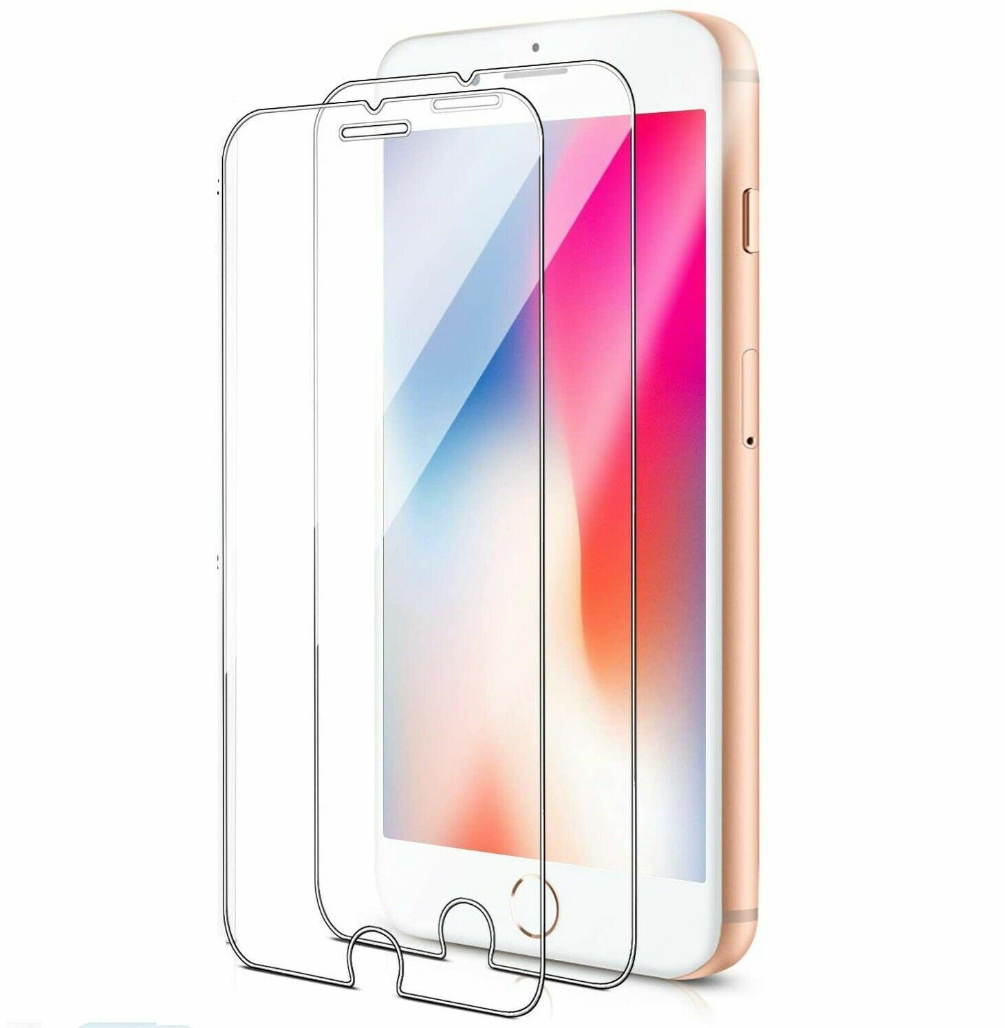 Pack of 2 Tempered Glass Screen Protector for iPhone 8, 7, 6S, 6 4.7-Inch film Cell Phone Accessories