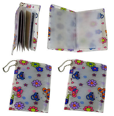 4 Daisy Credit Card Holder Organizer Book 6 Inner Pockets 2 Side Compartment