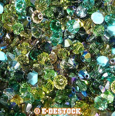 lot de 50 Perles Toupies 4mm Cristal Swarovski - MIX MULTICOLORE FORESTIER