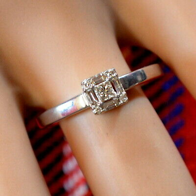 9 ct GOLD  second hand white gold diamond ring