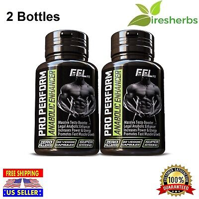 2 BOTTLES #1- BEST BODYBUILDING SUPPLEMENT RIPPED LEAN MUSCLE GAIN WORKOUT
