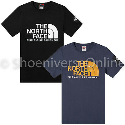 Men's The North Face Fine Alpine 2 T Shirt Short Sleeve Crew Neck 100% Cotton