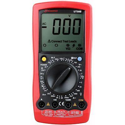 Sinometer Ut58b Digital Ac Dc Multimeter Voltage Current Temp Ohm Tester