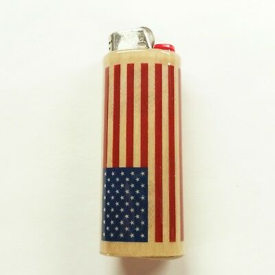 American Flag Lighter Case United States Lighter Holder Sleeve Cover Fits Bic](Flag Holder Case)