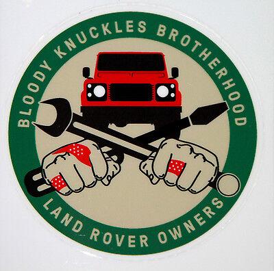 "Land Rover Series-Defender ""Bloody Knuckles Brotherhood"" sticker / decal / badge"