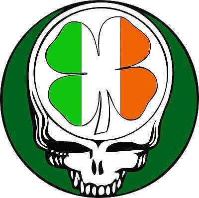 Shamrock Clover Vinyl Sticker Decal 6 Grateful Dead