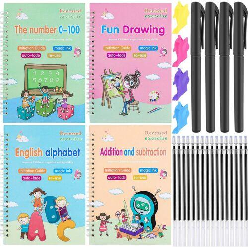 28Pcs Magic Practice Copybook Handwriting Reusable Tracing Book calligraphy Pens