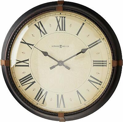 Howard Miller Atwater Wall Clock 625-498 – Modern & Round with Quartz Movement