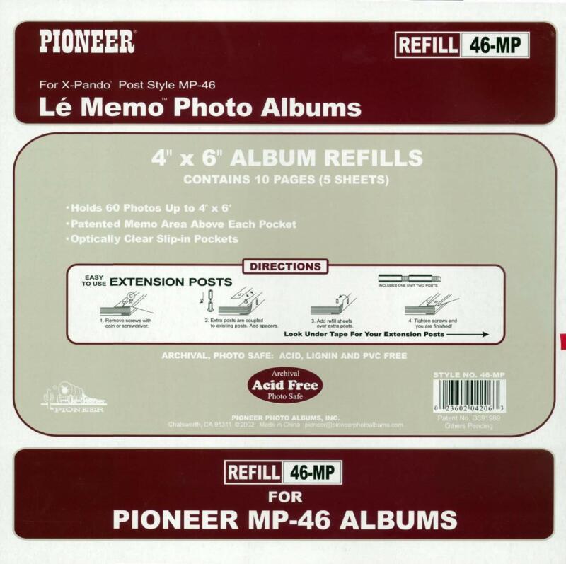 New Pioneer Memo Pocket Album Refill for MP46 Album