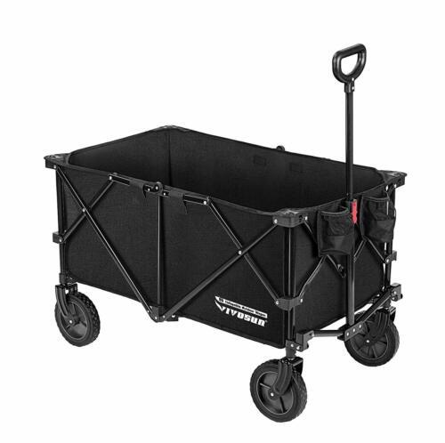 VIVOSUN Folding Utility Buggy Wagon Cart Camping Beach Cart