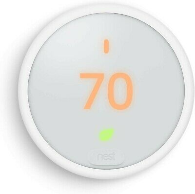 Google Nest Thermostat E, Smart Thermostat, White (T4000ES)